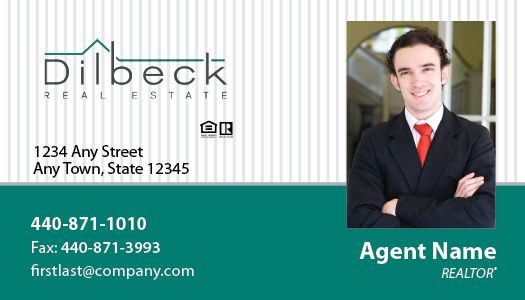 dilbeck real estate business cards package style 07 - Real Estate Business Cards