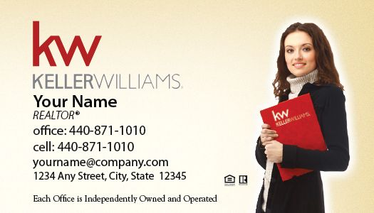 Keller williams business cards package style 23 colourmoves